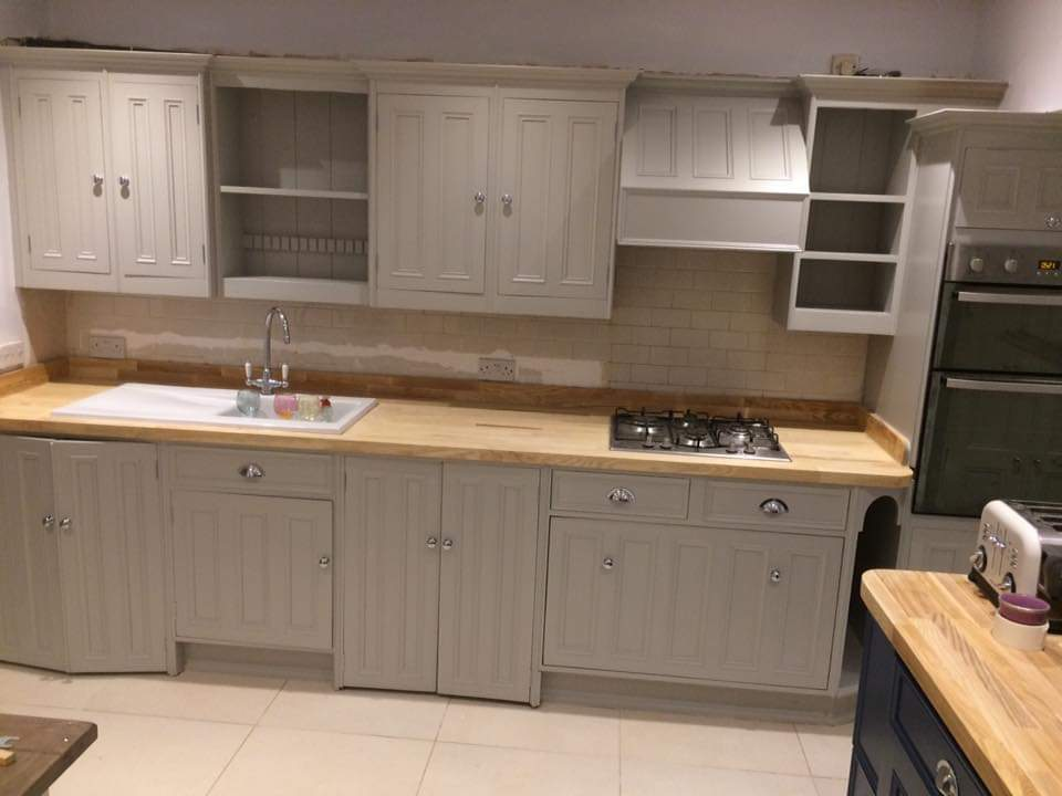 hand painted kitchen stockport