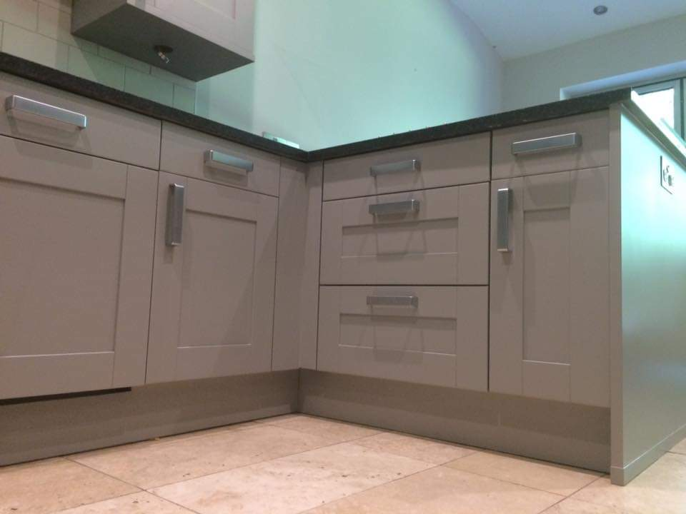 hand painted kitchen worsley
